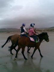 Dingle Peninsula cottage photo - Horse riding on beach at Murreagh