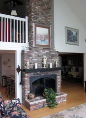 New Seabury house photo - GREAT ROOM FIREPLACE