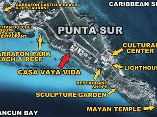 Isla Mujeres villa photo - CASA VAYA LOCATION MAP WITH PUNTA SUR HIGHLIGHTS, ISLA MUJERES