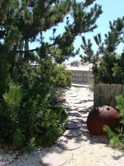Private path to beach access. - Brant Beach house vacation rental photo