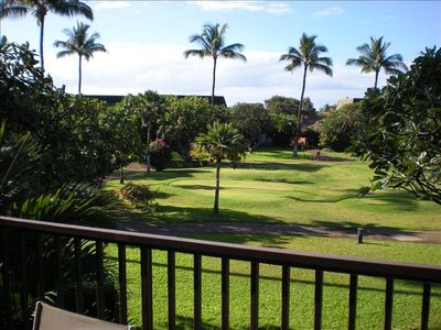 Putting green (view from our lanai)