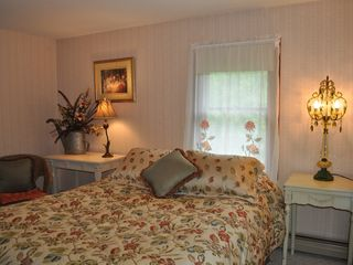 Bedroom 1, Queen Bed with T.V. in room - Bar Harbor cottage vacation rental photo