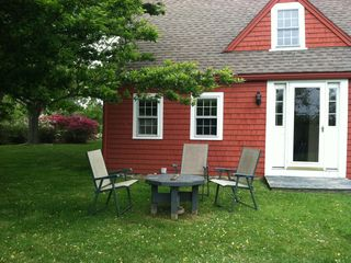 Block Island house photo - one of 2 places outside with table and chairs to gather and relax