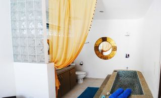 Playa del Carmen condo photo - Italian glass mosaic bath tub in Master Bedroom