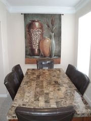 Gulfport villa photo - Elegent dining for six / beautiful tapestry