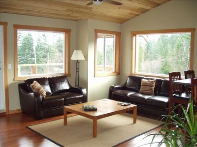 Great Room with vaulted cedar ceiling