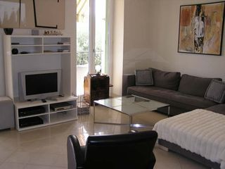 Menton villa photo - Living room w/french doors to balcony and terraces