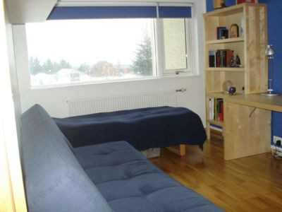 The blue bedroom. Room for 1-3 persons.