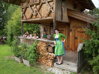 A beautiful, wooden holiday home with good mountain views.