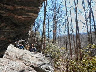 "Dillard cabin photo - The ""Rock House Trail"" Is Just A Stone's Throw From The Cabin."