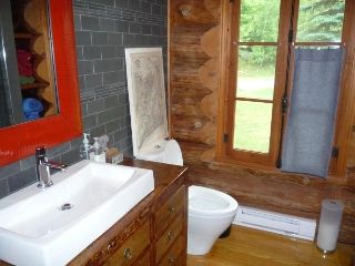 Haliburton cottage rental - main building main floor bathroom