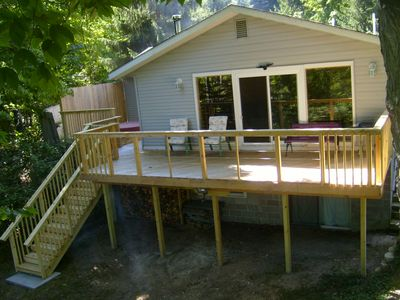 Thompsonville vacation rental vrbo 924073ha 2 br for Crystal mountain cabin rentals