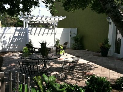 Enjoy a cup of coffee or a glass of wine in your private courtyard