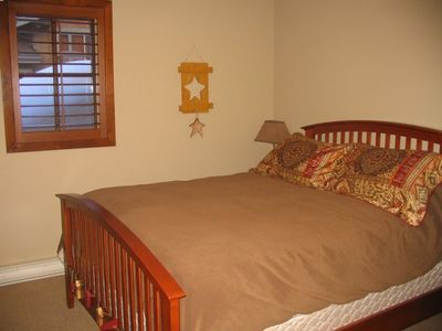 Queen bed upstairs