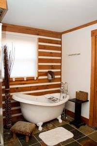 Master bathroom tub area