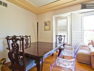 formal dining - chippendale antique table and chairs