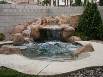 Las Vegas house rental - Beautiful Lagoon Pool seats 25