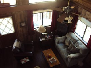 Payson cabin photo - Living space with flat screen TV