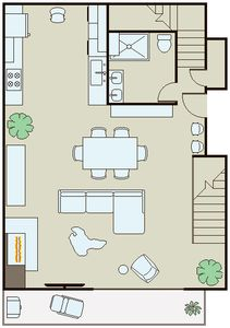 Luxury 2 Story Loft 1 Bedroom, 1 Bathroom Modern Amenities