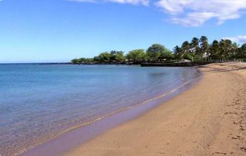 Anaehoomalu Bay or A-Bay - great beach, lots of sand, turtles and good for kids