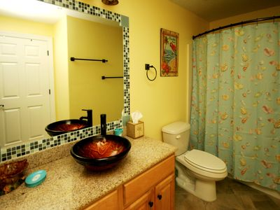Guest Bathroom with vessel sink