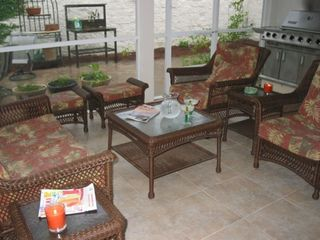 Outdoor Kitchen in screened-in porch -- great for pets and smokers.