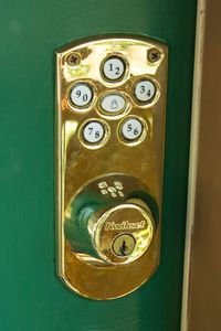 Keyless entry codes are changed with every guest stay.