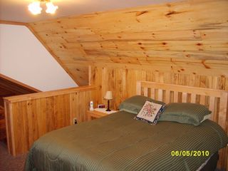 Munising chalet photo - Loft Bedroom, Queen Bed, Television.