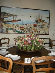 Taos house photo - Dining Table Set for Dinner