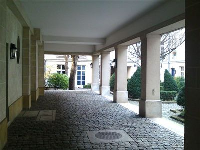 The Residence private courtyard (listed Historical French monument)