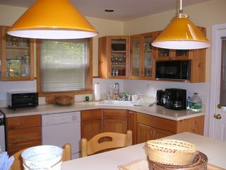 Sag Harbor house photo - Large, open kitchen with counter seating for 4.
