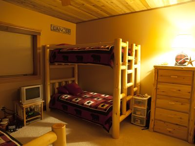 Bunk beds in lower level