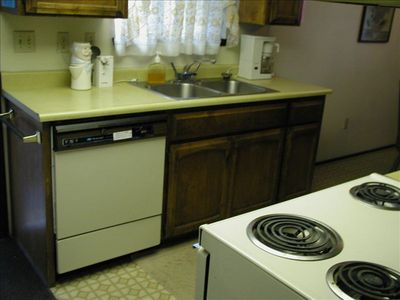 All-electric kitchen with stainless sinks.All  amenities.Refrigerator,microwave.