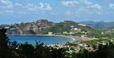 Stunning view of the bay and town of San Juan del Sur from the rooftop terrace