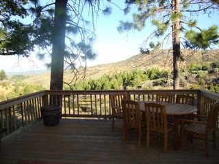Murphys house photo - View from spacious rear deck, teak dining set