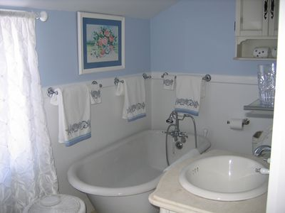 Bath for second floor suite.