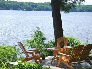 "Windham cottage photo - ""Peach deck"" overlooking the lake."