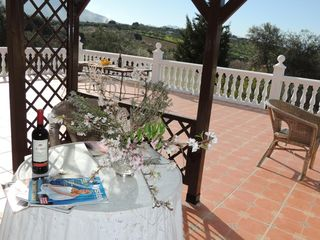 Alhaurin de la Torre villa photo - Relax by the pol with a Spanish sangria