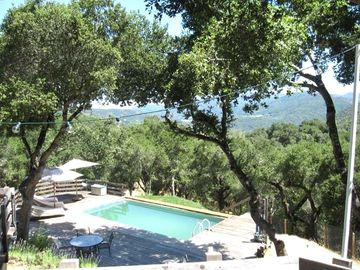 Carmel Valley house rental - View from the top deck
