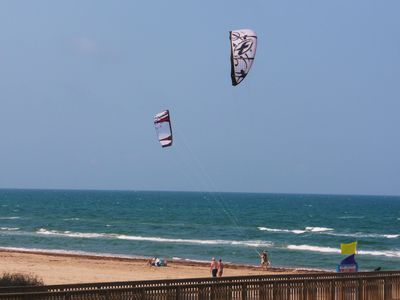 Makes you wish you could go kite boarding