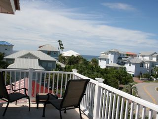 Crystal Beach house photo - 3rd Floor Sun Deck: Beautiful ocean views and Crystal Shores neighborhood.