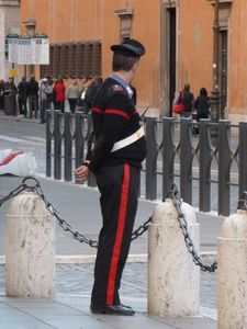 Italian policemen known as carabinieri are quite dapper!