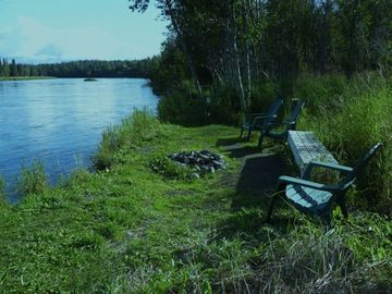 Soldotna studio rental - 165 feet of private riverbank for your fishing and relaxing enjoyment!