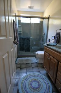 upgraded North bathroom with shower