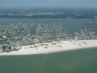 Aerial view of Treasure Island beaches
