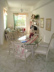 Airy and bright Dining Area and Den adjacent to the Kitchen