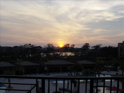 Sunset views from balcony every evening - Redfish Dune Lake