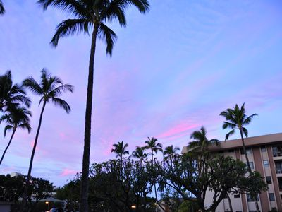 Sunset sky from the lanai.