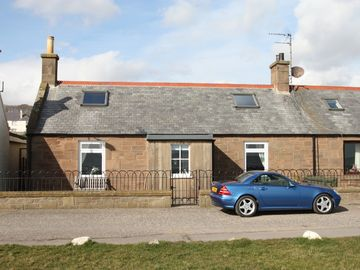 Johnshaven cottage rental - Park at front of cottage. Quiet no through road.
