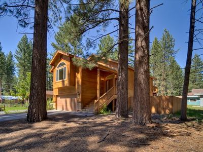 Tahoe Dream is set in a nicely wooded neighborhood with lots of pine trees